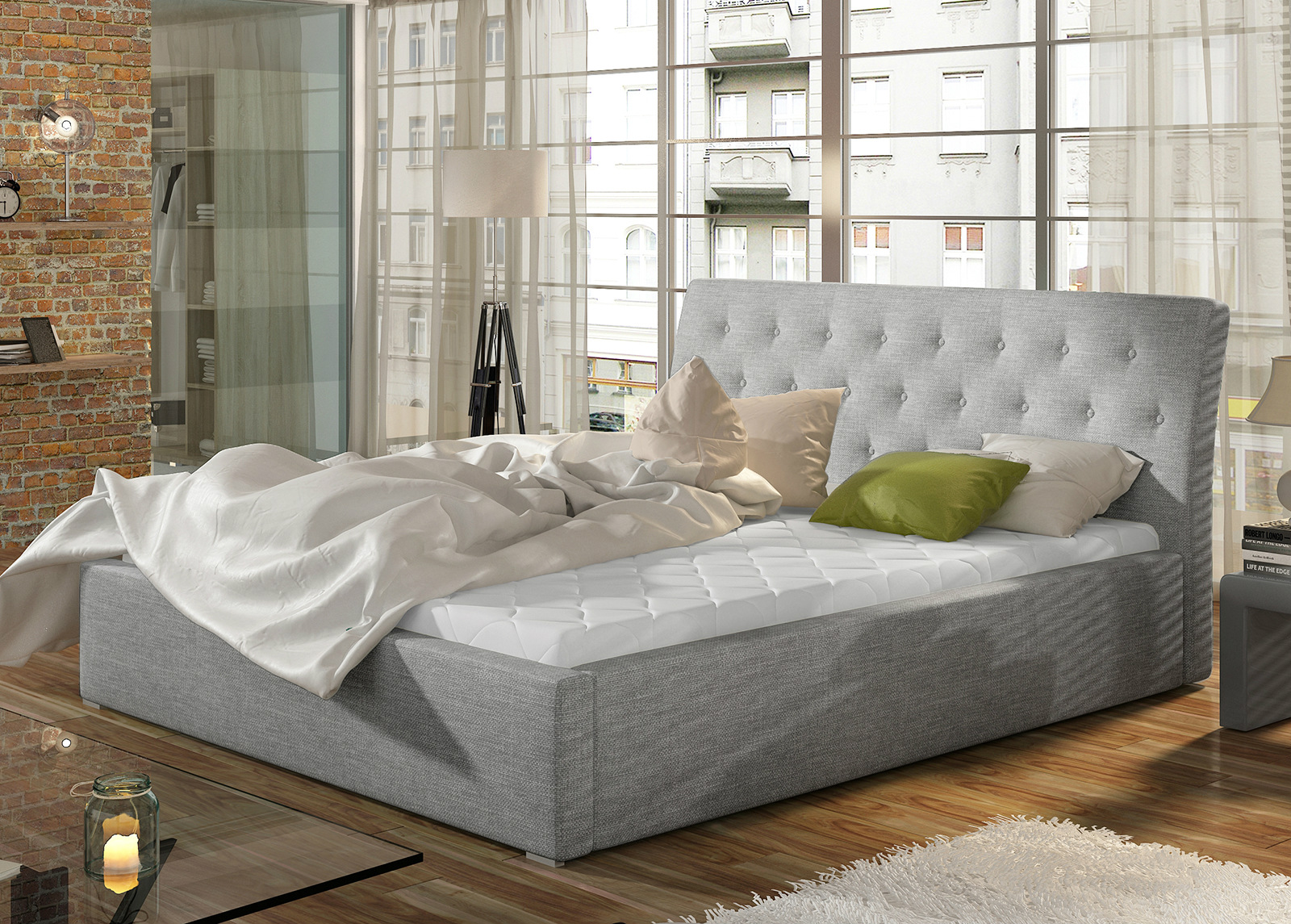 Sänky vuodevaatelaatikolla 200x200 cm
