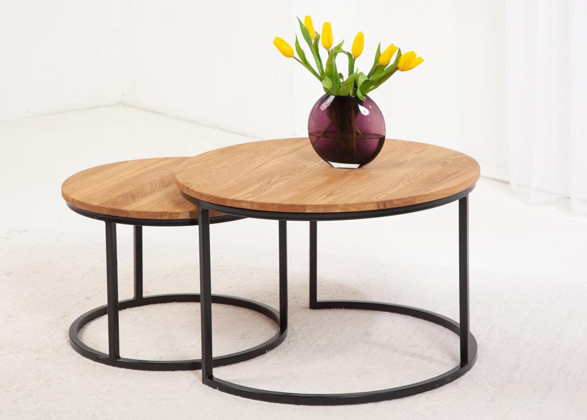Sohvapöytä tammea Airy, 2 kpl