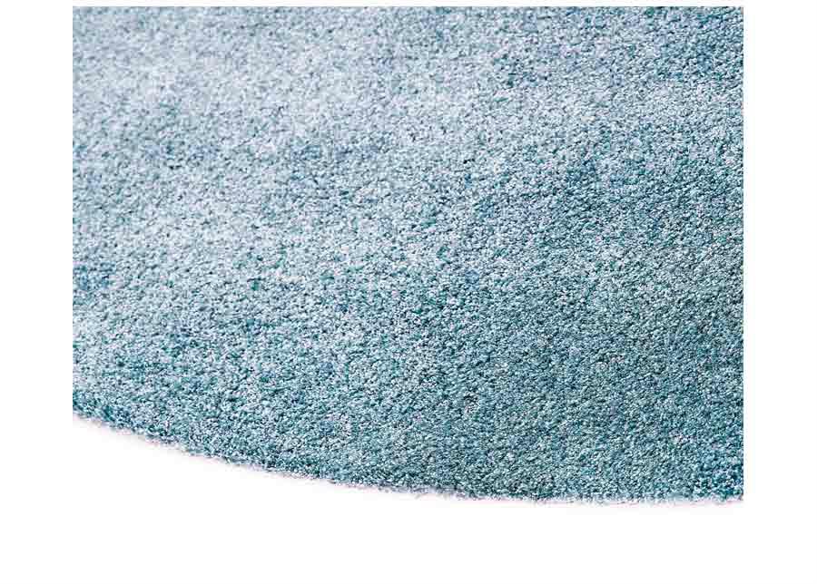 Narma velour matto Noble blue pyöreä Ø 133 cm