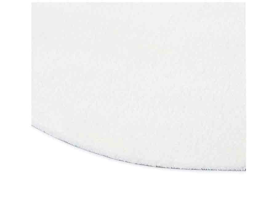 Narma velour matto Noble white pyöreä Ø 200 cm