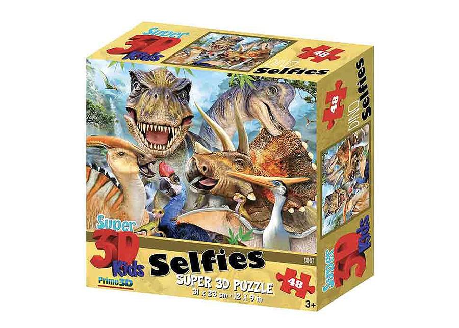 Palapeli 3D Dinosaurukset Selfies 48 osaa
