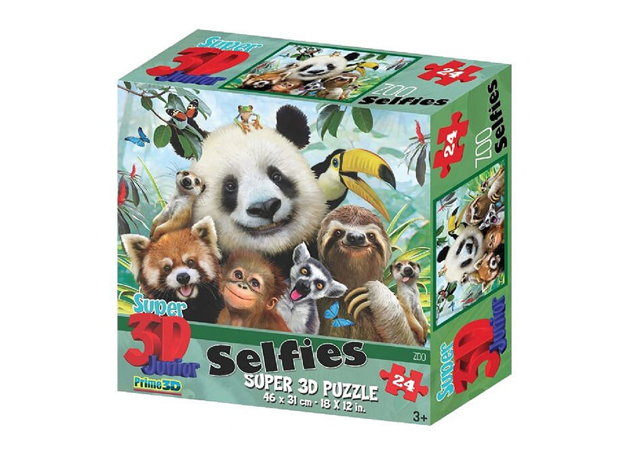 Palapeli3D Zoo Selfies 48 osaa