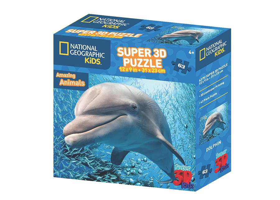 Palapeli 3D Delfiini 63 osaa