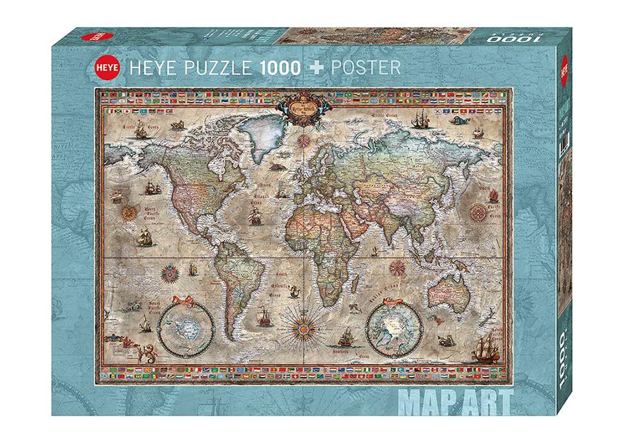 Palapeli Retro world 1000 osa