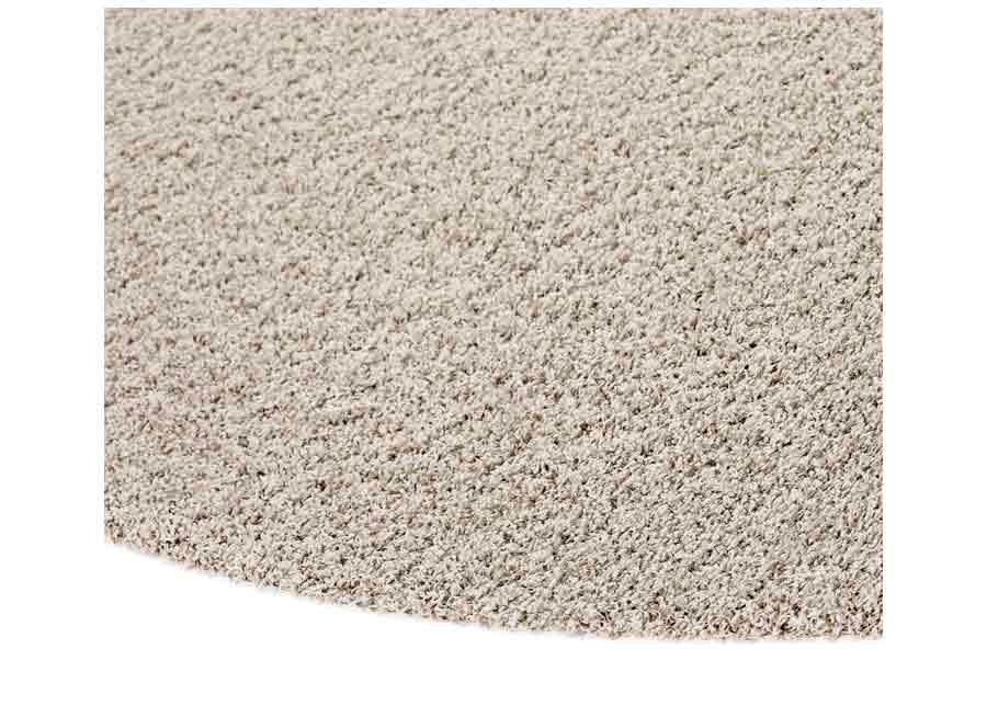 Narma pitkäkarvainen matto Spice beige pyöreä Ø 133 cm