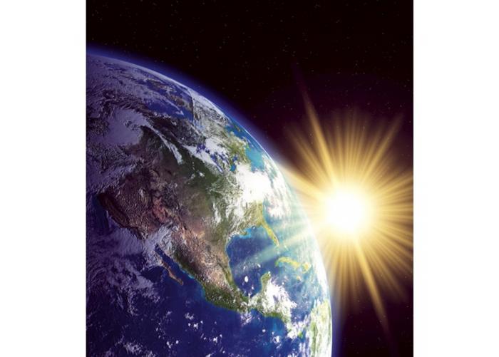 Fleece-kuvatapetti Earth 225x250 cm