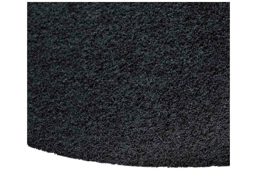 Narma pitkäkarvainen matto Spice black pyöreä Ø 133 cm