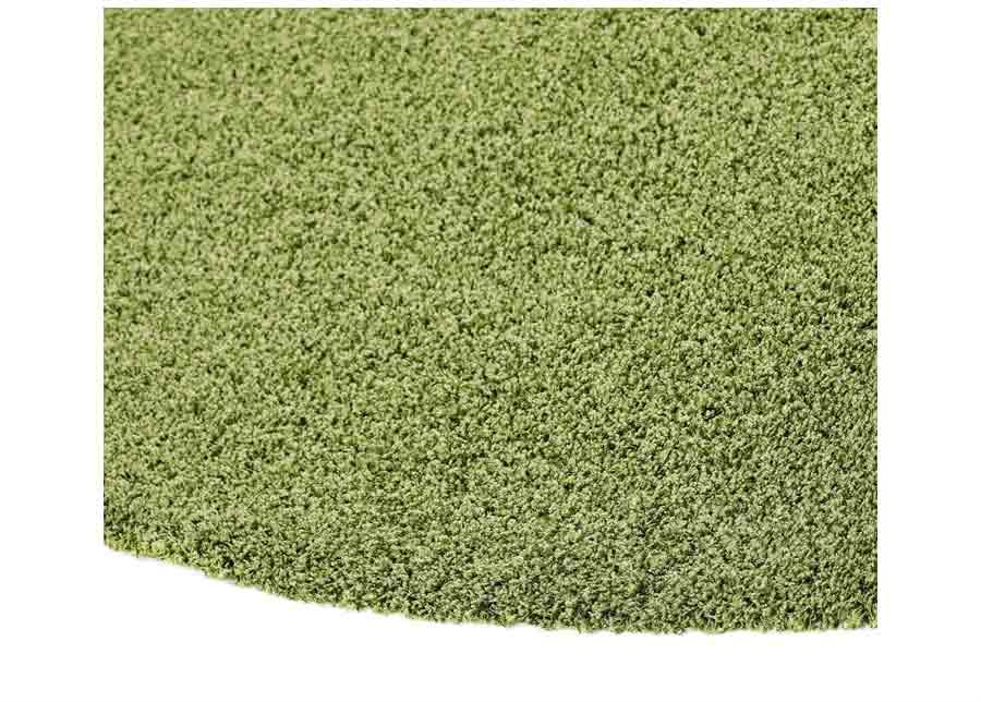 Narma pitkäkarvainen matto Spice green pyöreä Ø 133 cm
