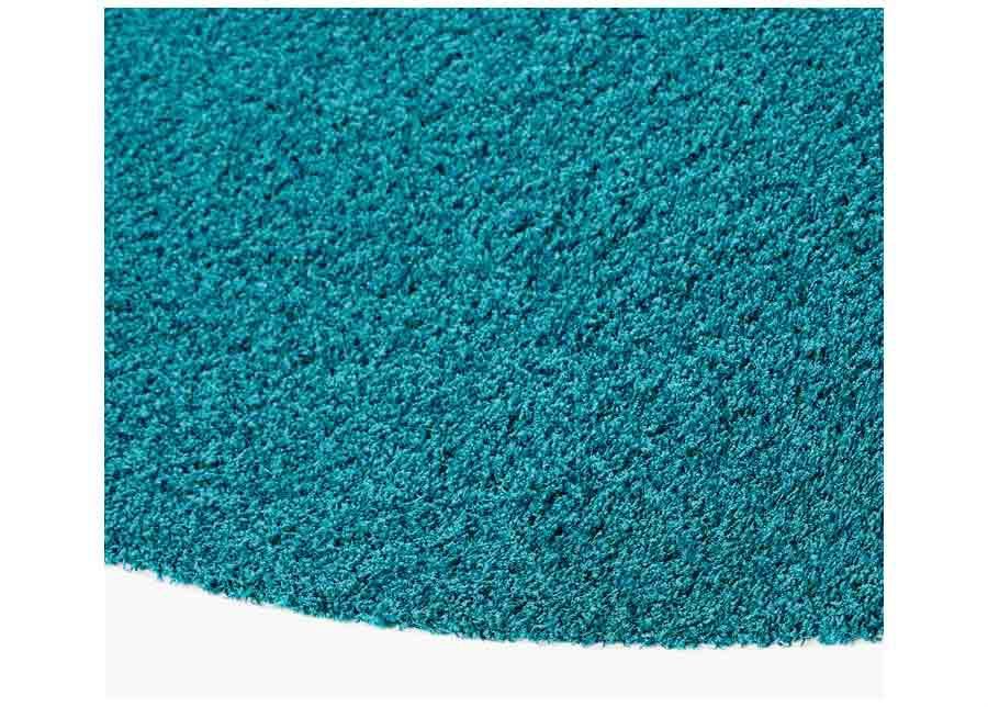 Narma pitkäkarvainen matto Spice petrol pyöreä Ø 133 cm