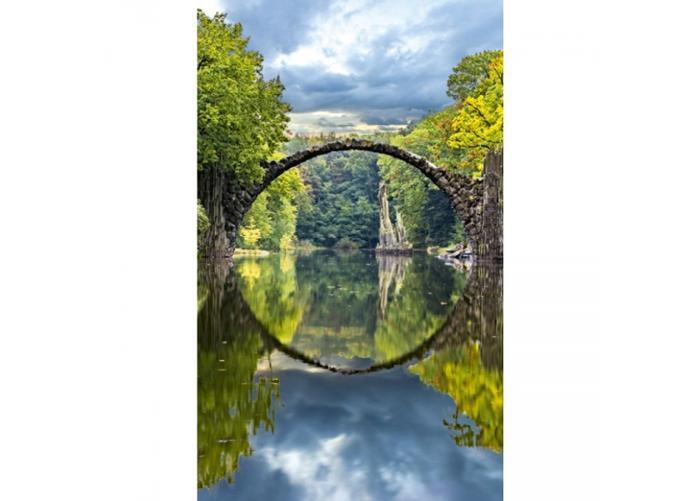 Fleece-kuvatapetti Arch bridge 150x250 cm