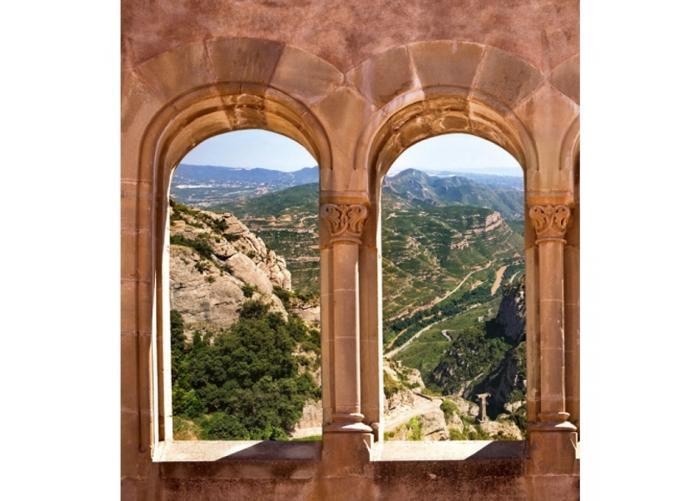 Fleece-kuvatapetti Arch window 225x250 cm