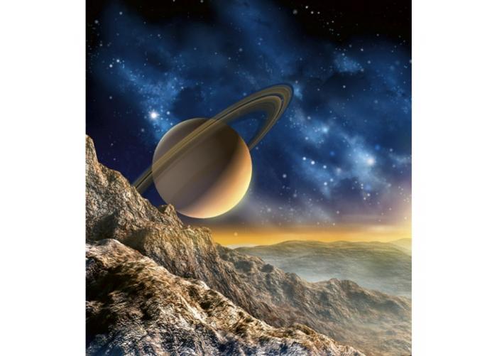 Fleece-kuvatapetti Spacescape 225x250 cm
