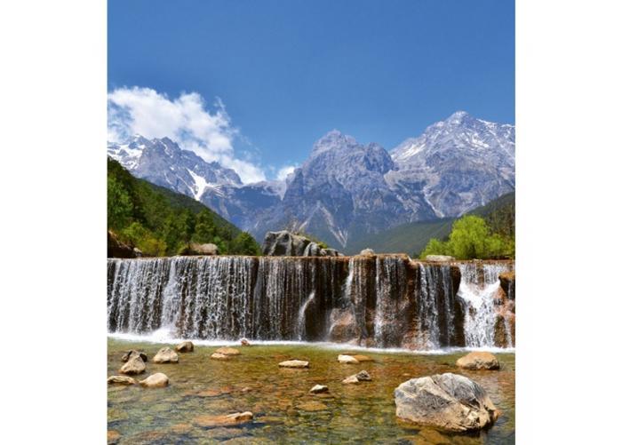 Fleece-kuvatapetti Alps 225x250 cm