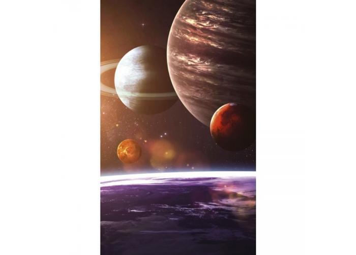 Fleece-kuvatapetti Solar system 150x250 cm