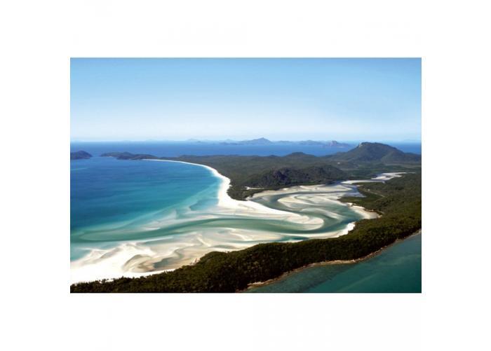Fleece-kuvatapetti Aerial view of beach 375x250 cm