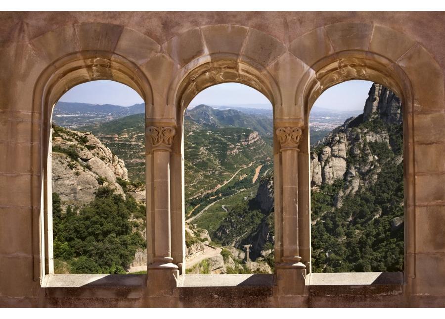 Fleece-kuvatapetti Arch window 375x250 cm