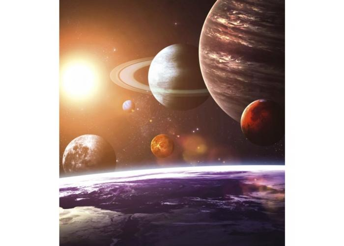Fleece-kuvatapetti Solar system 225x250 cm