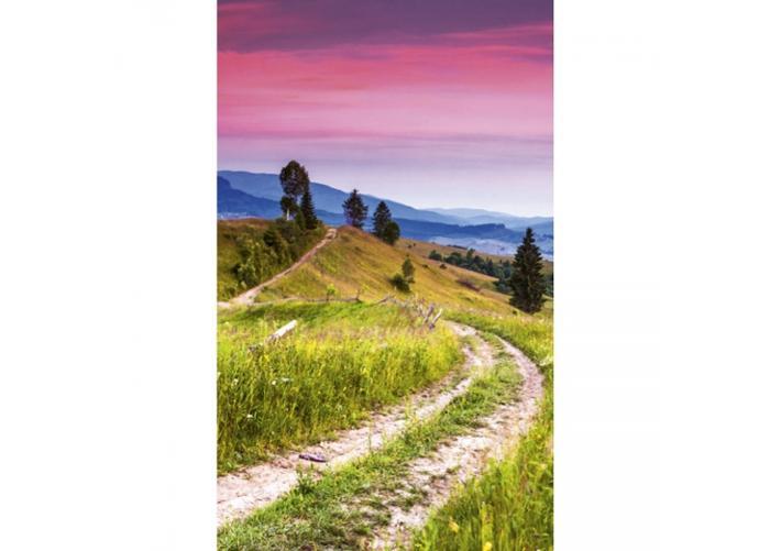 Fleece kuvatapetti Blooming hills 150x250 cm