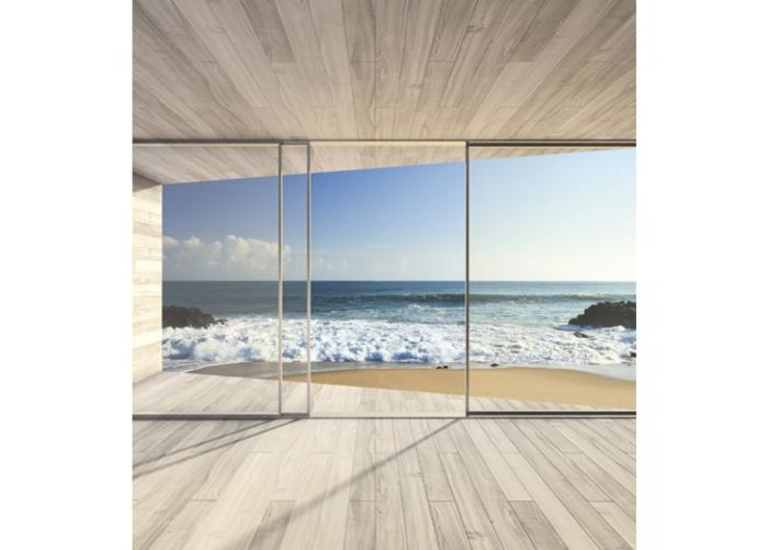 Fleece kuvatapetti Large bay window 225x250 cm