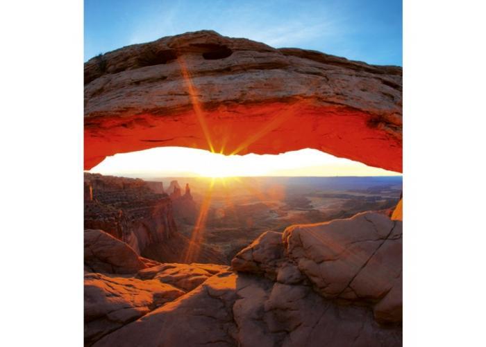 Fleece-kuvatapetti Mesa arch 150x250 cm