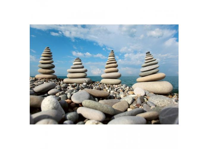 Fleece-kuvatapetti Stack of stones 375x250 cm