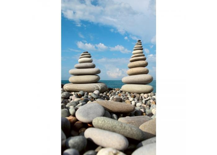 Fleece-kuvatapetti Stack of stones 150x250 cm