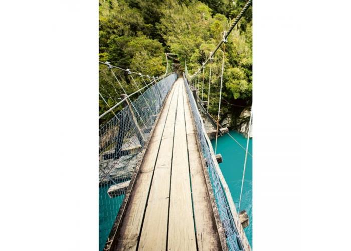 Fleece kuvatapetti Wooden bridge 150x250 cm