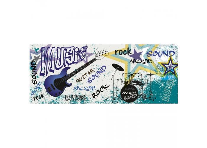 Fleece kuvatapetti Blue guitar 375x150 cm