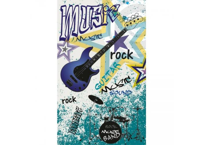 Fleece kuvatapetti Blue guitar 150x250 cm