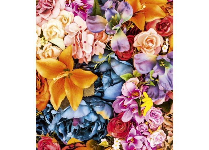 Fleece kuvatapetti Vintage flowers 225x250 cm