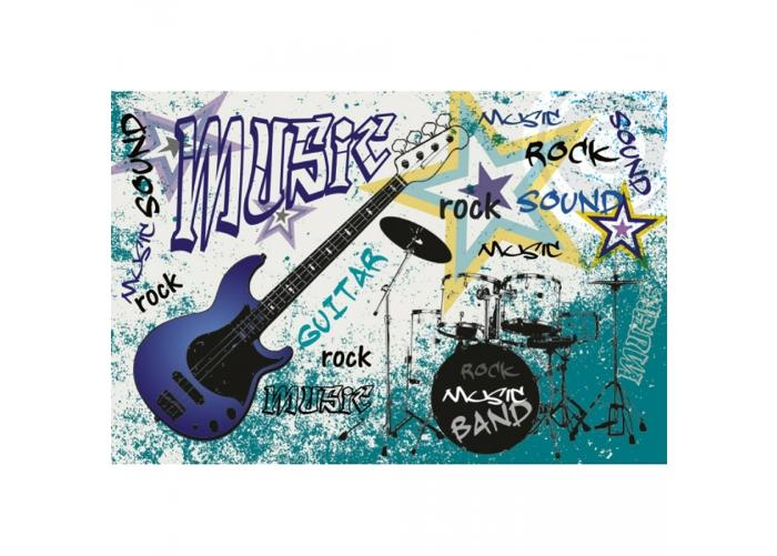 Fleece kuvatapetti Blue guitar 375x250 cm