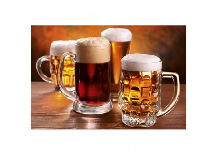 Fleece kuvatapetti Beer mugs 375x250 cm