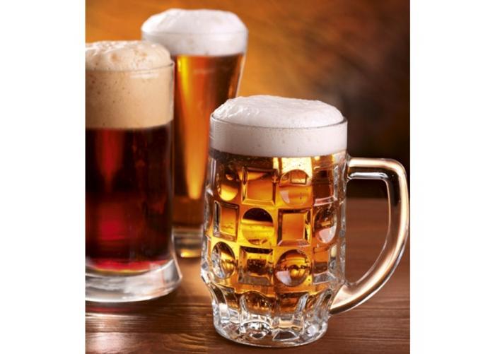 Fleece kuvatapetti Beer mugs 225x250 cm