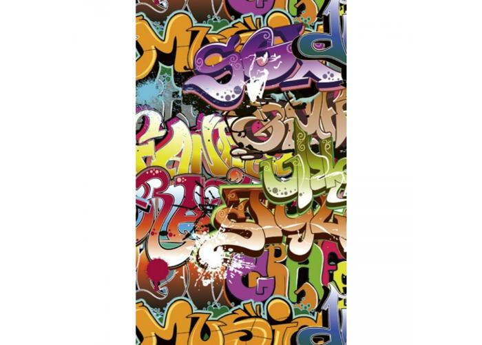 Fleece kuvatapetti Graffiti art 150x250 cm