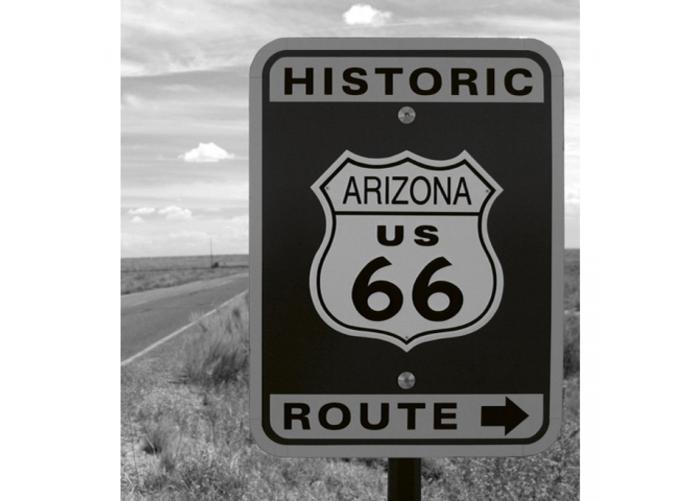 Fleece kuvatapetti Historic route 150x250 cm
