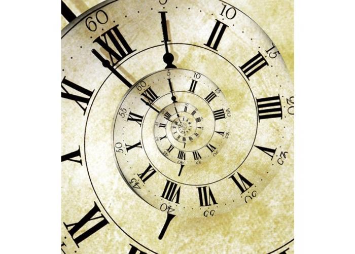 Fleece kuvatapetti Spiral clock 225x250 cm