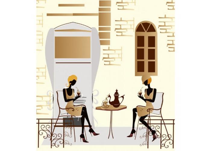 Fleece kuvatapetti Street cafe 225x250 cm