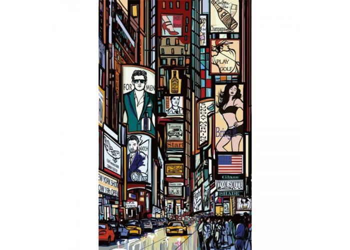 Fleece kuvatapetti Times Square 150x250 cm
