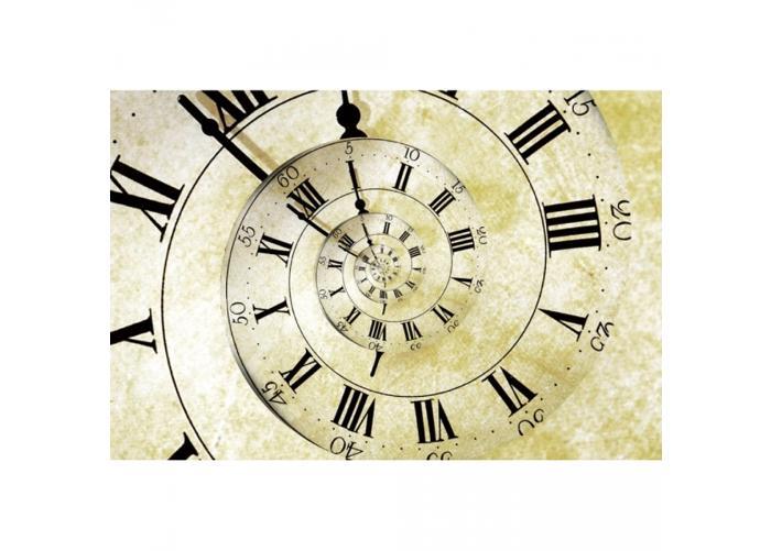 Fleece kuvatapetti Spiral clock 375x250 cm