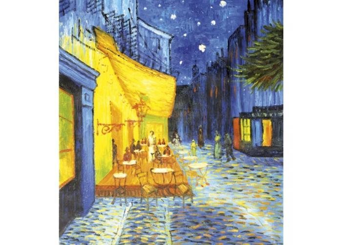 Fleece kuvatapetti Cafe terrace 225x250 cm