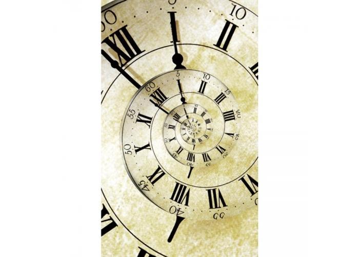 Fleece kuvatapetti Spiral clock 150x250 cm