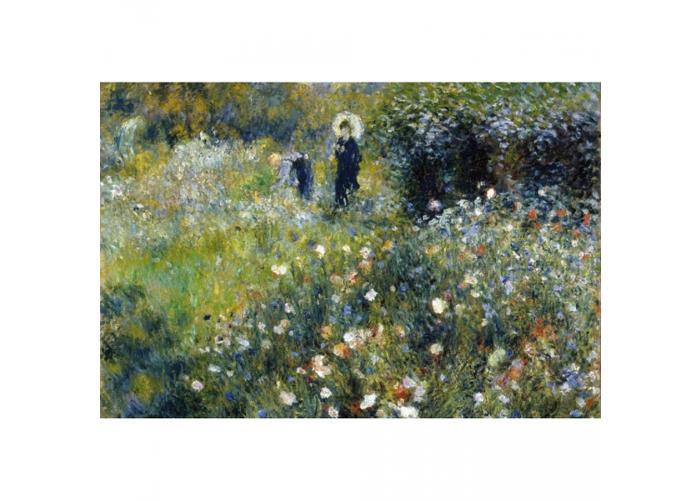 Fleece kuvatapetti Woman in garden 375x250 cm