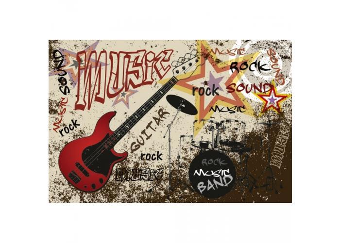 Fleece kuvatapetti Red guitar 375x250 cm
