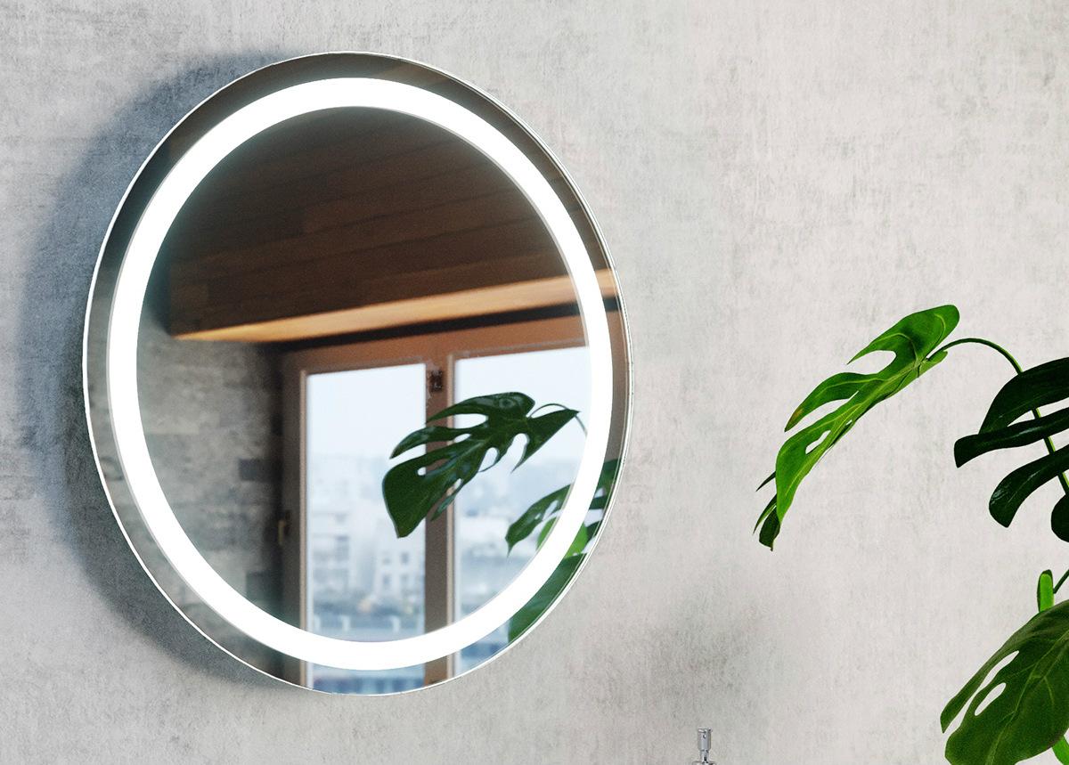 Peili valaistuksella Aurora R Ø60 cm