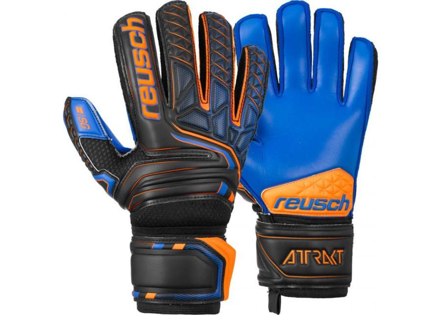 Maalivahdin hanskat miehille Reusch Attrakt SG Extra Finger Support 5070830 7083