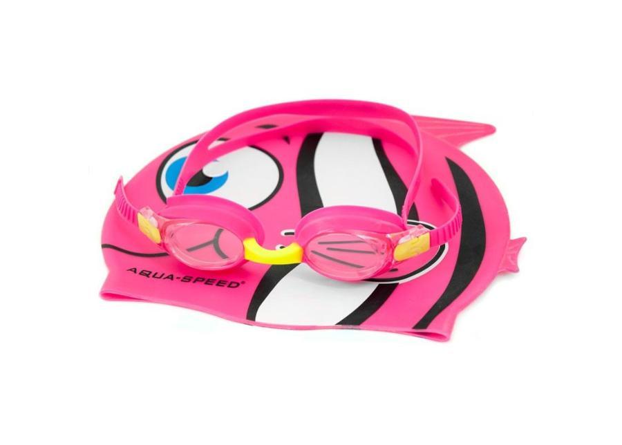 Lasten uimalakki ja uimalasit -setti Aqua-Speed Set Fish Junior