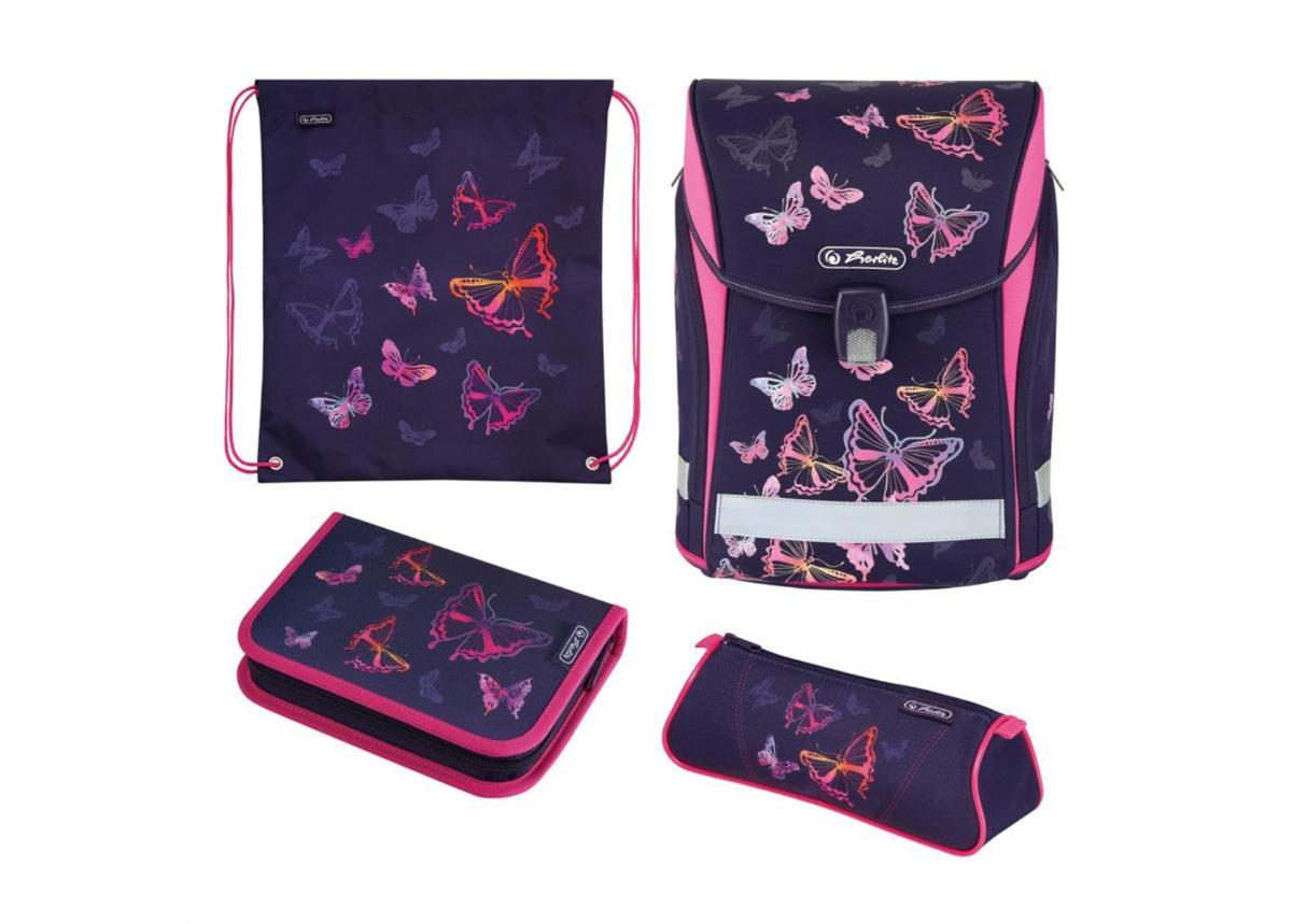 Koulu- ja selkäreppu Midi Plus Rainbow Butterfly