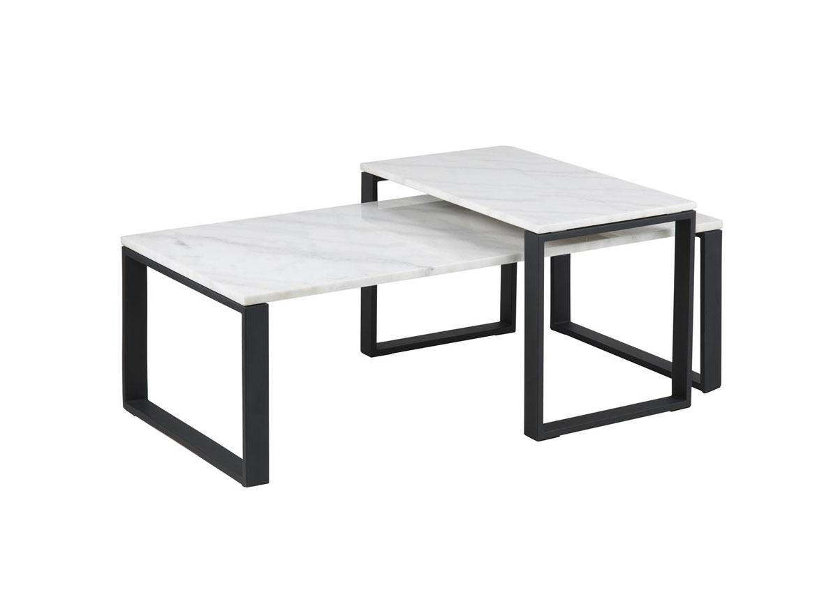 Sohvapöytä marmorilevyllä Katrine 115x69 cm