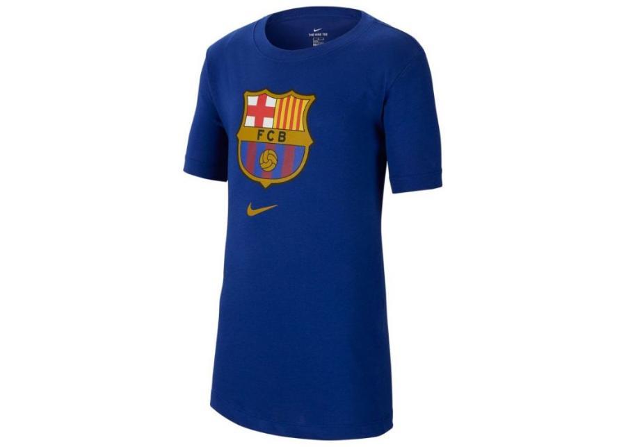 Lasten jalkapallopaita Nike FC Barcelona B NK Tee Evergreen Crest Jr CD3199 455