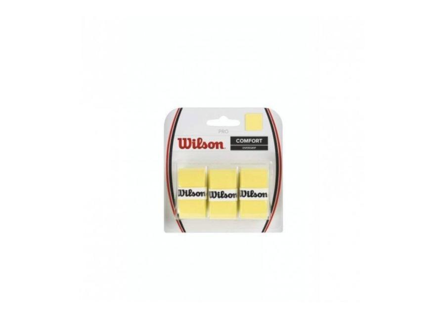 Tennismailan grippiteippi Wilson Pro Overgrip 3 kpl keltainen